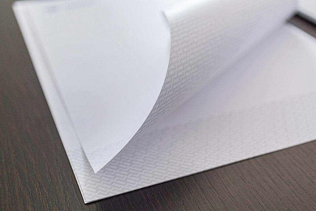 carta intestata con la nuova grafica Mazzucco Dal Prà Progetti